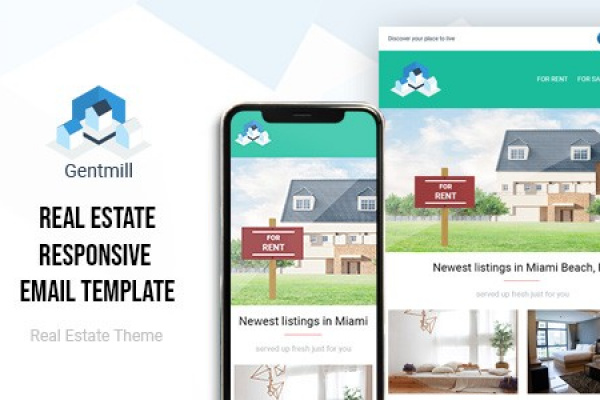 Gentmill Real Estate HTML Email Template