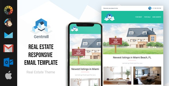 Gentmill Real Estate Email Template | Free Download