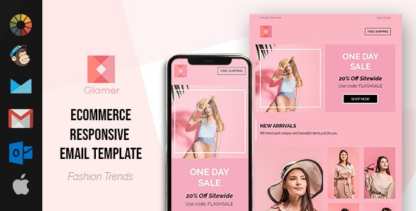 Glamer Flash Sale HTML Email Template