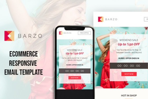 Barzo eCommerce Responsive Email Newsletter Template