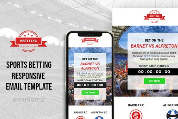 MBETTING Sports Betting HTML Email Template