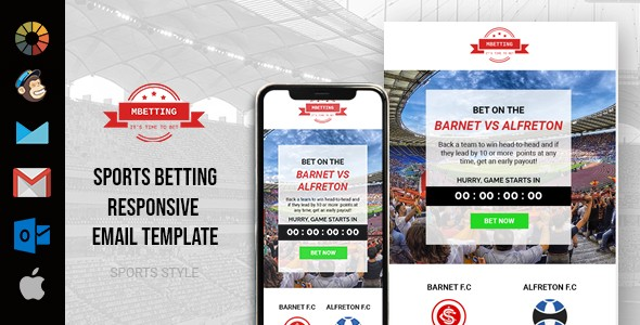 MBETTING Sports Newsletter Template