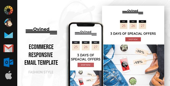 Ovined 3 Days Specials Offer HTML Email Template