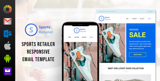 Sports Retailer Free Email Template