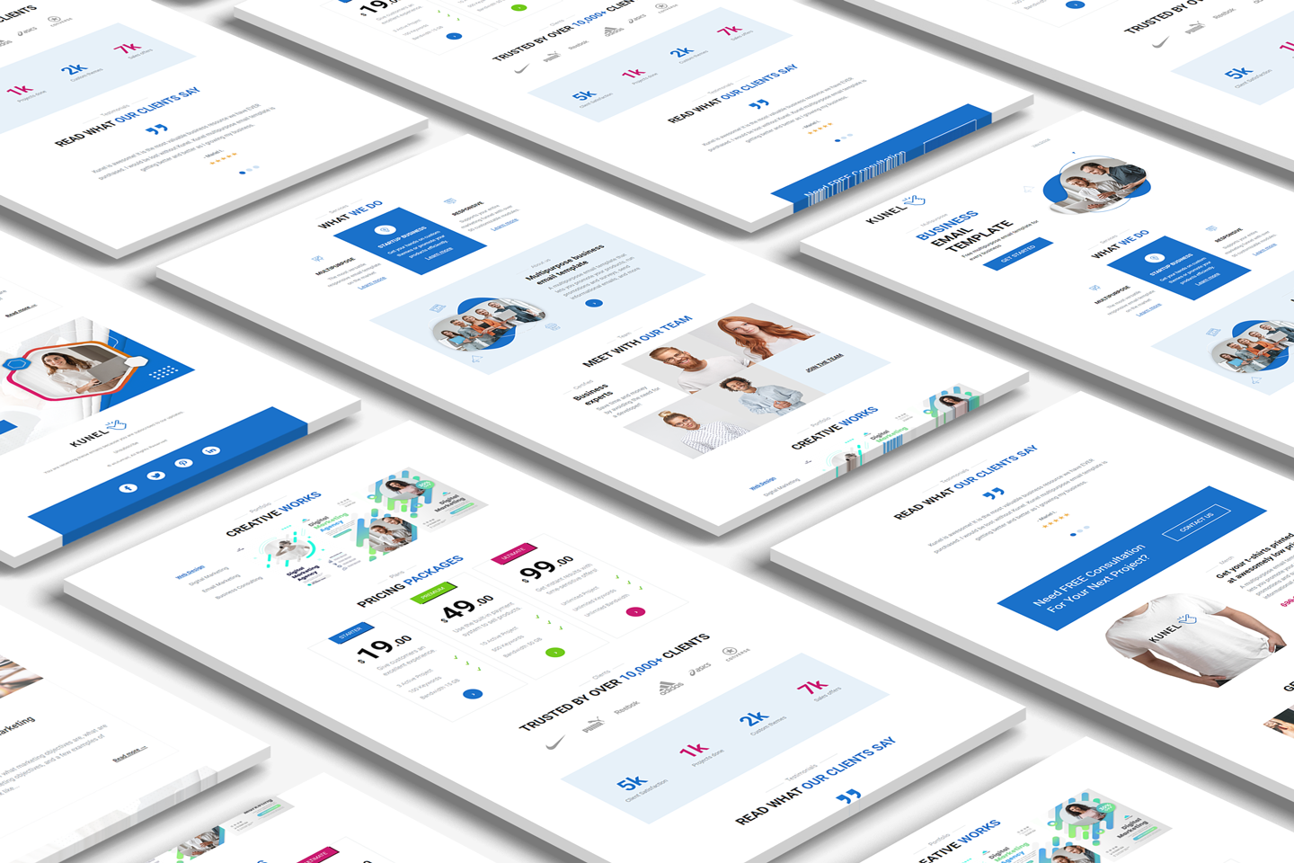Kunel multipurpose business email template