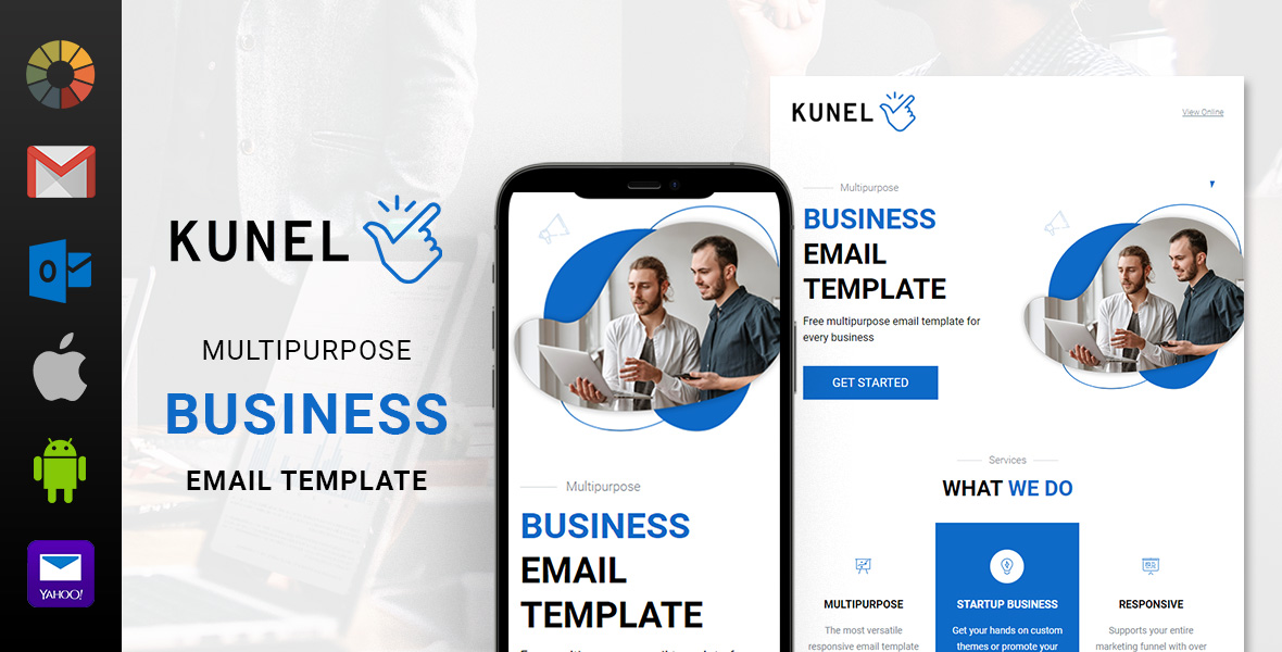 Kunel Multipurpose Business Free Email Template