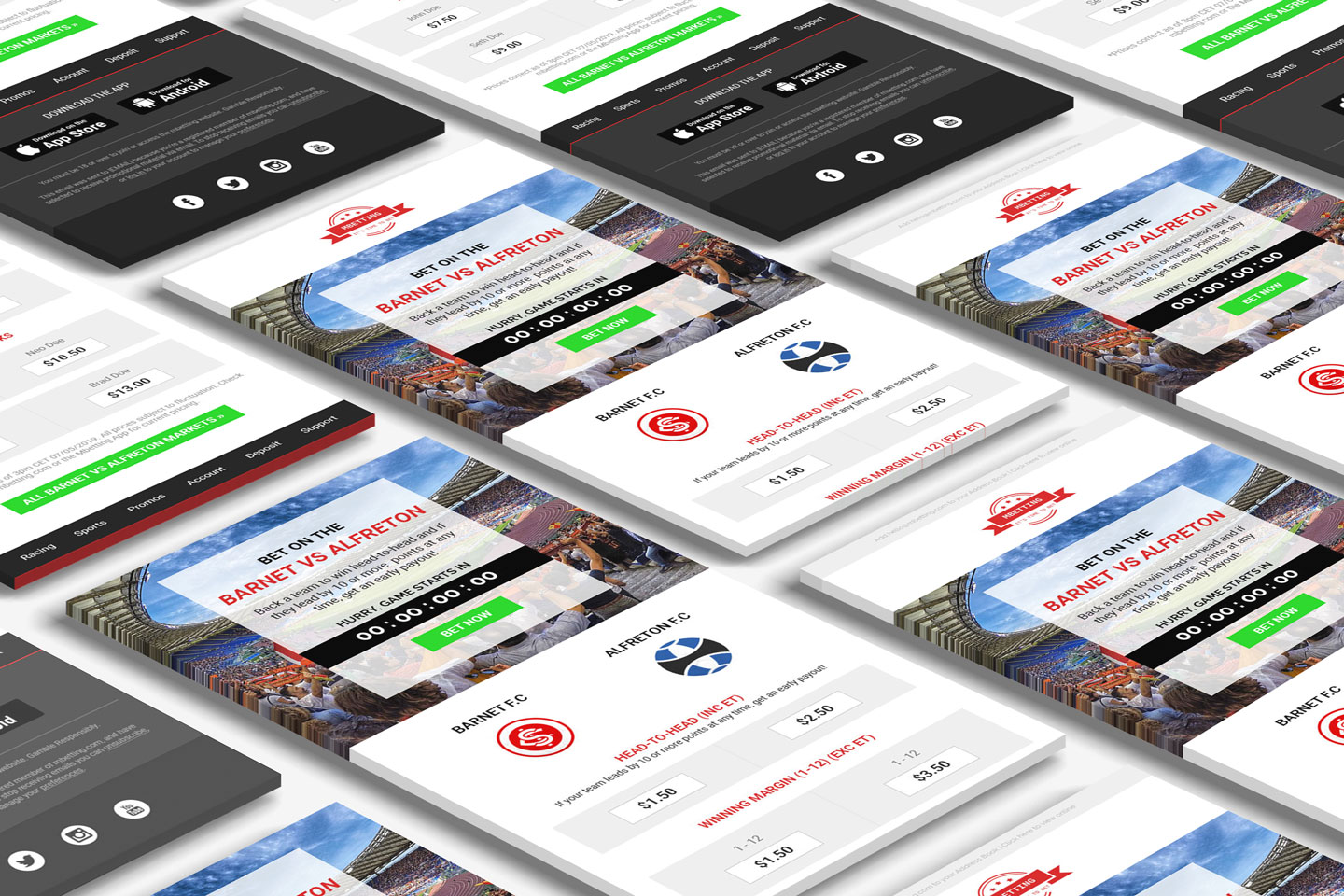 mbetting sports betting email template