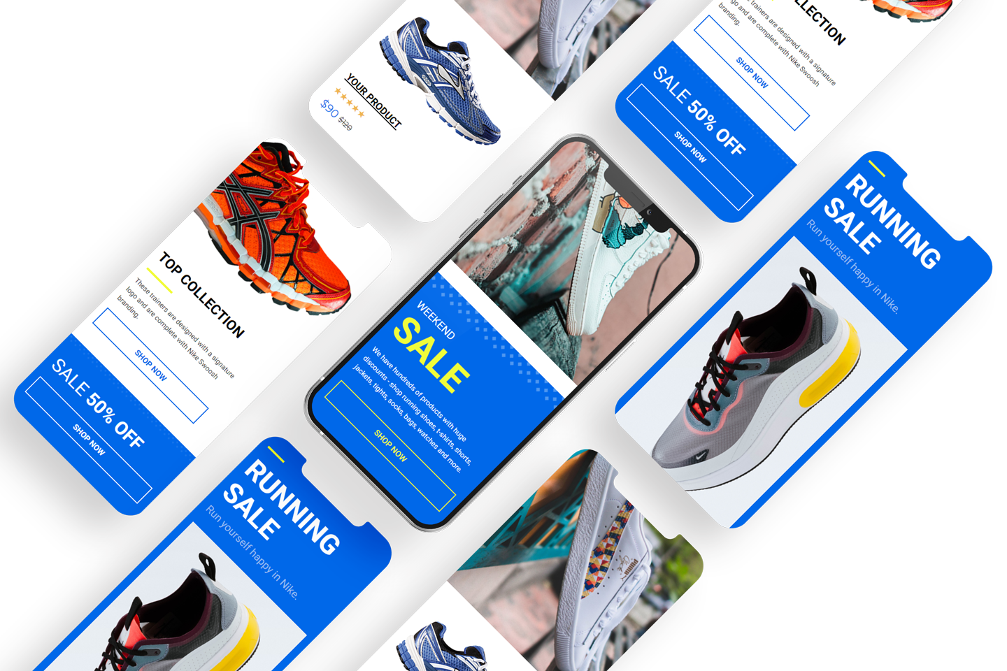 sports retailer email template